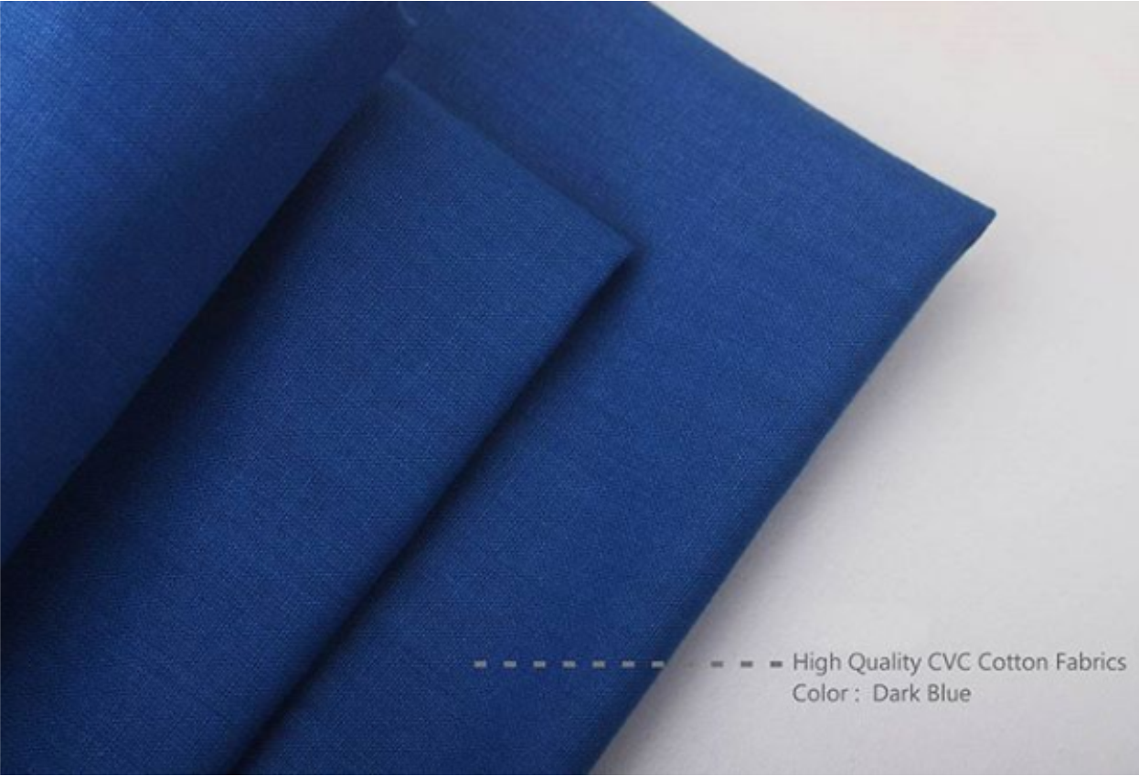Bahan Kain Sprei Cotton CVC Warna Dark Blue