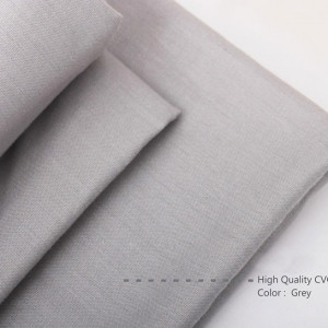 Bahan Kain Sprei Cotton CVC Plaindye Warna Grey