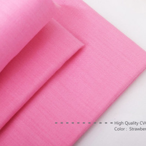 Bahan Kain Spei Katun CVC Warna Strawberry High Quality