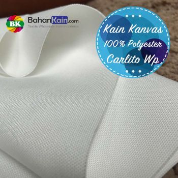 Kanvas Putih Polyester Carlito Waterproof - Digital Print Canvas