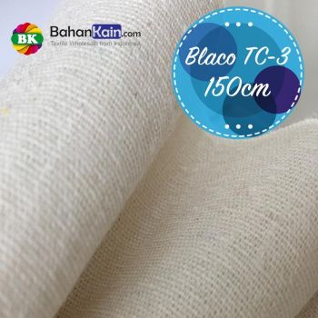 Kain Blacu TC 3 (Cotton – Polyester) Lebar 150 CM