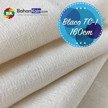 Kain Blacu TC 1 (Cotton – Polyester) Lebar 160 CM