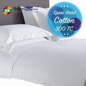 Sprei Hotel 100% Cotton 300 Thread Count Putih