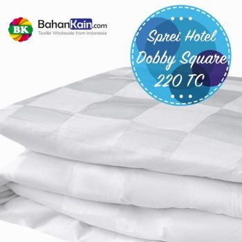 Sprei Hotel 100% Cotton Dobby Kotak 220 TC