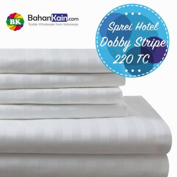 Sprei Hotel 100% Cotton Dobby Stripe 220 TC
