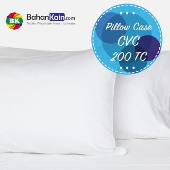 Sarung Bantal Hotel CVC 200 Thread Count (Pillow Case)
