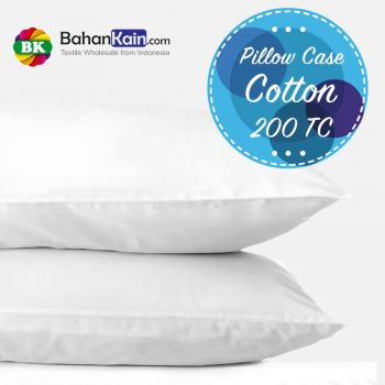 Pillow Case: Sarung Bantal Hotel Cotton 200 TC Putih