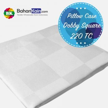 Pillow Case Hotel Dobby Square 220 TC : Sarung Bantal Dobby Kotak