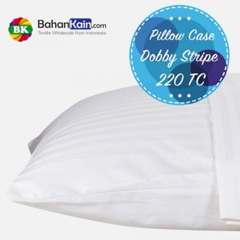 Pillow Case Hotel Dobby Stripe 220 TC : Sarung Bantal Dobby Salur