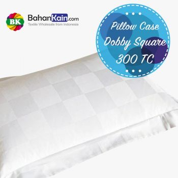 Pillow Case Hotel Dobby Cotton Square 300 TC