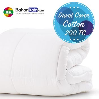 Duvet Cover Hotel Cotton 200 TC Putih