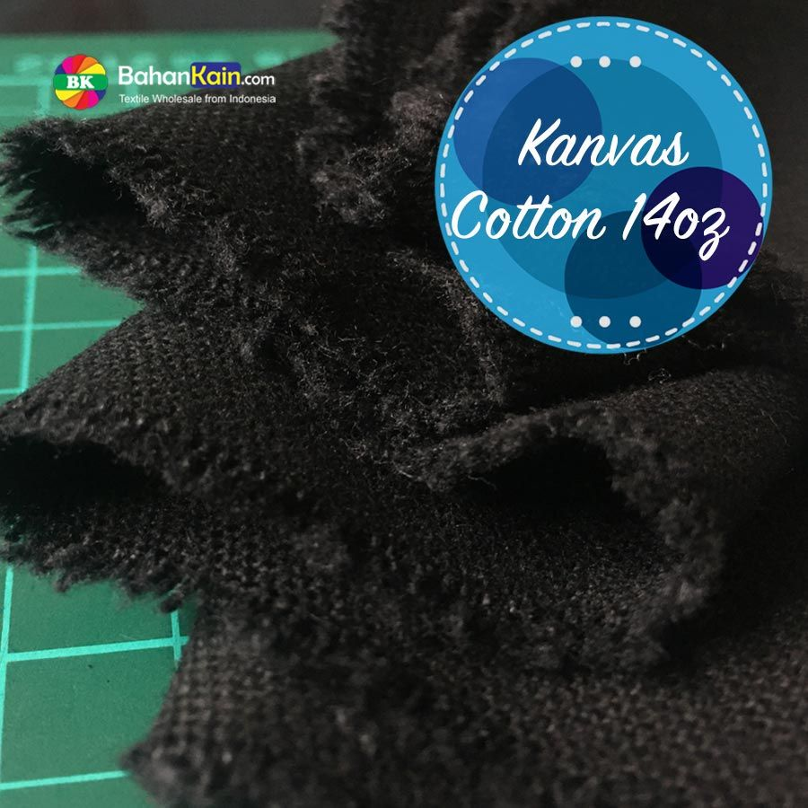 Kanvas Katun Warna Plat 14 OZ