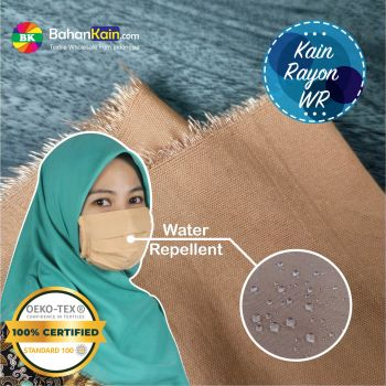 Kain Rayon Water Repellent Warna Coklat