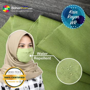Kain Rayon Water Repellent Warna Hijau