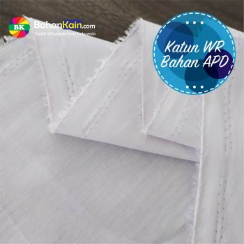 Kain Katun Water Repellent (Anti Air) Lebar 150 CM – Putih
