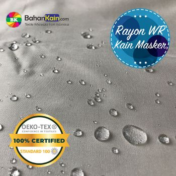 Kain Rayon Anti Droplet (Water Repellent) Bahan Masker